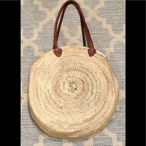 Handbags - Round Straw Bag